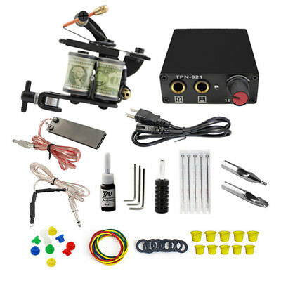 Complet Tattoo Kit Professional Tatouage Machine Kit Set for New Bird Exercise
