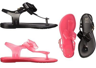 e4edaca48498 Mini Melissa Girls Kids Solar Sandal open Toe Flip Flops Summer Shoes Black  Pink