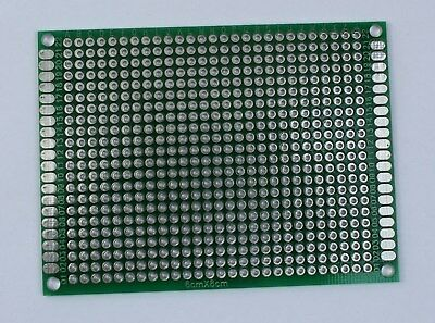 1 or 2 Double Sided PCB Proto Perf Board Through Plated 6x8 cm USA Comb Ship