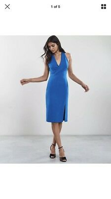 royal blue boom boom the label khloe dress new with tags midi size