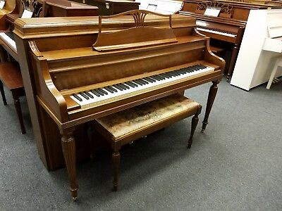 """Steinway Console Model F 40"""" Upright Piano Manufactured 1979 in USA w/ bench"""