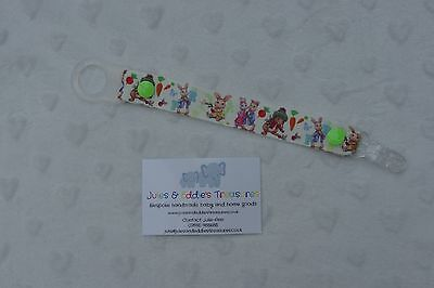 Dummies Clips ,Holder/Dummy/Soother/Pacifier/chain Peter Rabbit Beatrix Potter