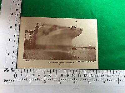 launch of S.S. The Olympic steam merchant ship White Star Line Harland Wolf