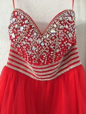 Girls Strapless Red Dress - Anny Lee -- Size Small