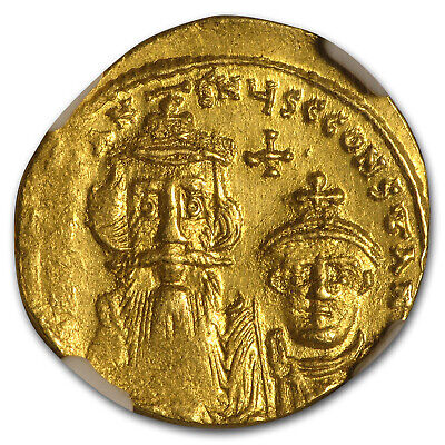 Byzantine Gold Constans II, Constantine IV (654-668 AD) MS NGC - SKU#172806