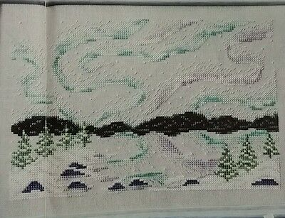 'breathtaking Northern Lights' Cross Stitch Chart By Shannon Wasilieff (C26)