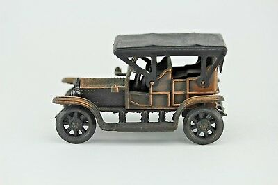 Vintage Antique Automobile Die Cast Metal Bronze Patina Pencil Sharpener.