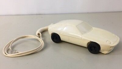 Porsche 928 Telephone Touch Tone Landline Phone RC928 White Clean Tested Working