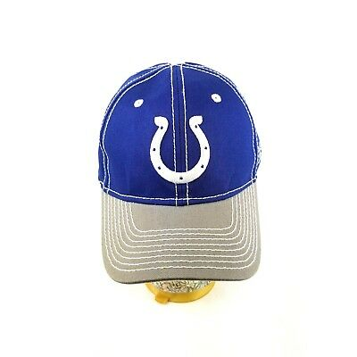 535b9dc2 INDIANAPOLIS COLTS NFL Reebok Mens Adjustable 100% Cotton Blue Ball ...