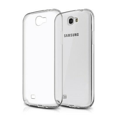 Custodia Silicone TPU Gel Trasparente per Samsung Galaxy Note 2 Cover Ultra Thin