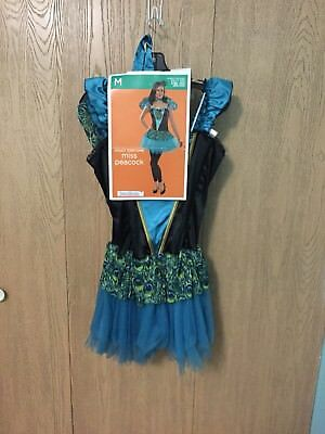 Brand New Beautiful MISS PEACOCK WOMENS LARGE COSTUME WINGS