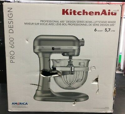 Kitchenaid Kf26m22sr 6 Qt Professional 600 Design Series With Glass
