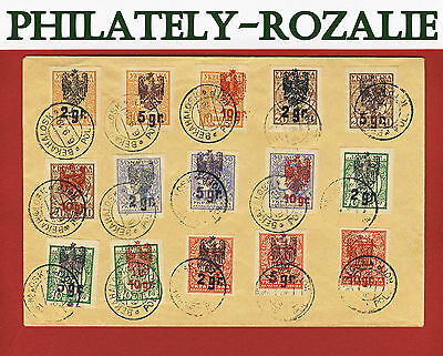 Ukraine 1919  cover  Polish occupation of the Ukraine. a series of 15 stamps