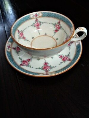 Antique Original Minton Persian Rose Pattern #B838 cup and saucer