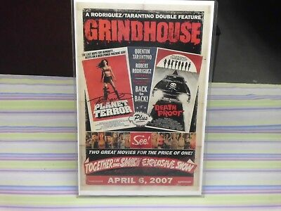 planet terror grindhouse signed movie poster
