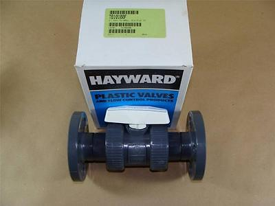 "New Hayward Tb10100F 1"" Pvc True Union Ball Valve With Viton Seals & Flange Ends"
