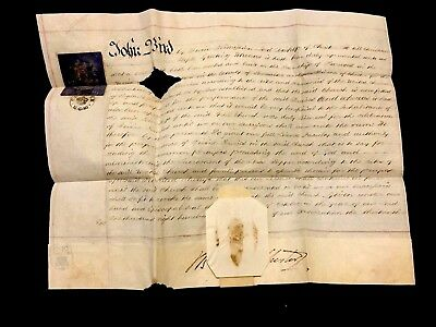Church License To Perform Divine Services 1840. Episcopal Seal