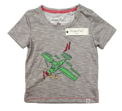 New Little Kids Infant Boys Sovereign Code Airplane Grey T Shirt Tee 18M