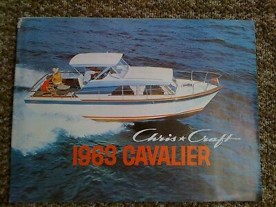 TWO (2) CHRIS CRAFT BOAT catalogs brochures and price lists - vintage 1963