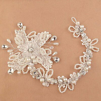 Bridal lace beaded hair piece