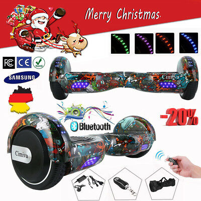 6,5 Zoll Bluetooth Hoverboard E-Skateboard Self Balance Scooter Offroad COOL LED