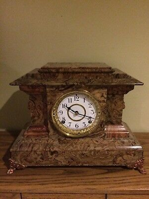 "Antique Seth Thomas ""adamantine"" Mantel Clock"