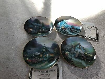 """Thomas Kinkade """"Enchanted Cottages"""" Collector Plates"""