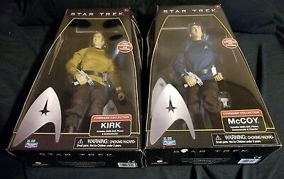 """Playmates Star Trek 12"""" Command Collection McCoy and Kirk Set NEW IN BOX"""