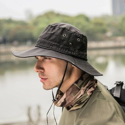 Wide Brim Sun Hat Sun Protection Waterproof for Fishing Hiking Camping Boating