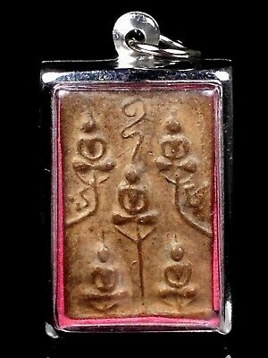 thai buddha amulet old antique LP Ngern maestro POWERFUL pendant