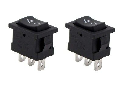 2Pcs Momentary SPDT Single Pole Double Throw 3-Pin (ON-OFF-ON) Rocker Switches