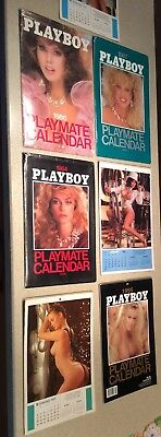 Vintage Lot of 7 Playboy Calendars from 1976-1985. Please See Pictures.