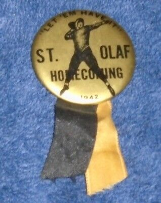 St. Olaf College 1942 Homecoming Pin