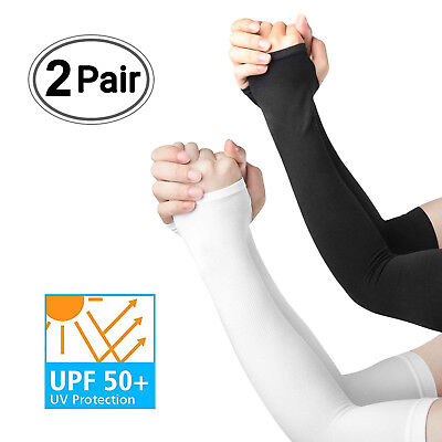 New Seamless UPF50+ UV Sun Protection Cooling Arm Sleeves Cover Golf Sports Driv