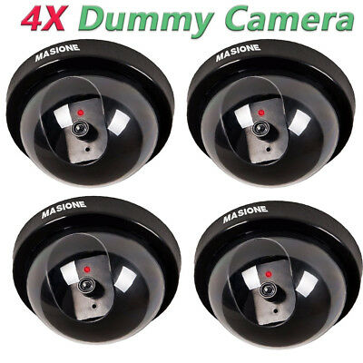 4X  Fake Dummy Dome Surveillance Security Camera IR LED Light Home In/Outdoor
