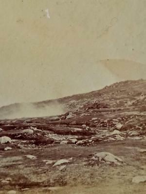 Antique STEREO PHOTOGRAPH. Fog Over CHARLOTTE PASS c1900's- Snowy Mountains NSW