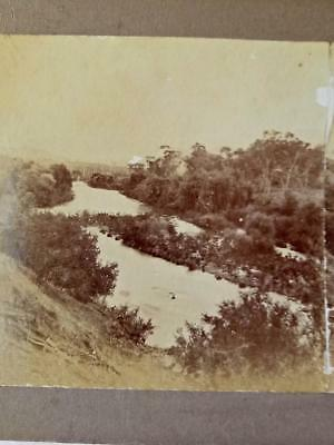 Antique STEREO PHOTOGRAPH. TUMUT RIVER VALLEY c1900s- TUMUT, NSW Snowy Mountains