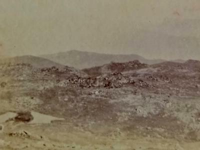 Antique STEREO PHOTOGRAPH. Victoria from TOP Mt Kosciuszko 1900s-Snowy Mountains