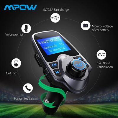 Wireless Bluetooth FM Transmitter Car Radio Car MP3 Audio Player USB Charger TT