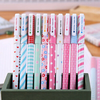 1~10PCS Colorful Gel Pen Cute Stationery Creative Gift School Supplies 0.38mm