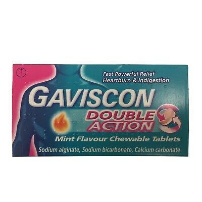 Gaviscon Double Action Mint Anti Reflux Indigestion Tablets 48 - Multibuy