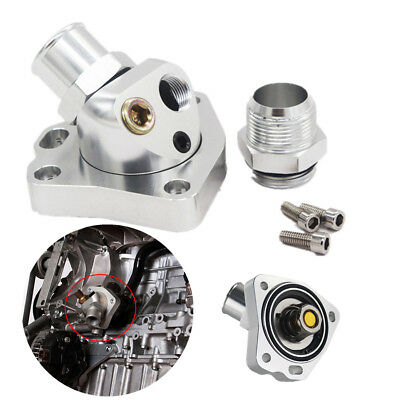 Aluminum Swivel Thermostat Shell Housing For K20 K24 Engine Radiator Hose K Swap