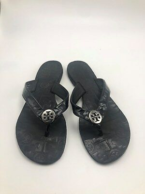 feb7f10b4 TORY BURCH MONROE Flip Flop Sandal Black Leather Size 7 M -  62.99 ...