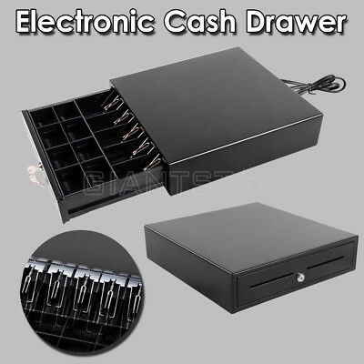 Electronic Heavy Duty Cash Drawer Cash Register POS 5 Bills 8 Coins AU Stock New