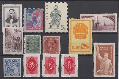 Chine-China Timbres neufs MNH, bien
