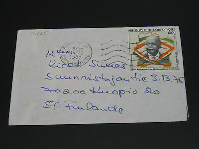 Ivory Coast 1983 cover to Finland *13365