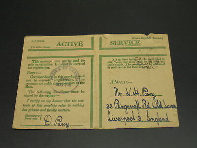 UK 1943 censored active service cover faults *13144