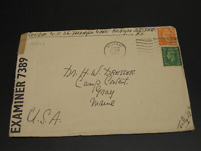 UK 1944 censored cover to USA *13203
