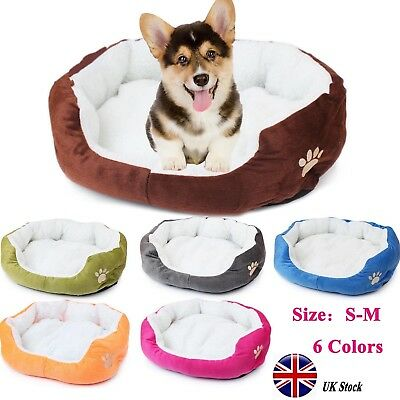 Pet Cat Dog Bed Puppy Cushion House Soft Warm Kennel Dog Mats Blanket Winter UK