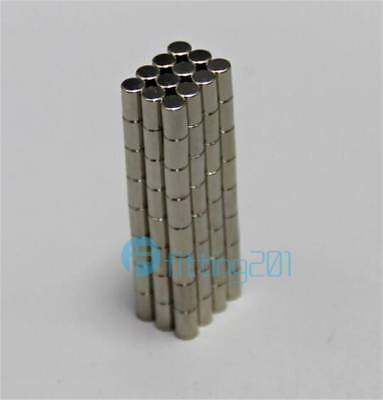 100pc N50 Super Strong Round Disc Cylinder Magnets Rare Earth Neodymium 4 x 6 mm